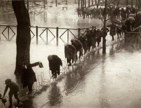 Henri Manuel. Flood in París, 1924